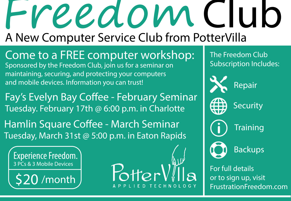 Freedom Club Expo Event on February 17th